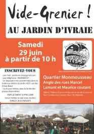 affiche vide grenier 29 juin_jardin collectif  Ivraie